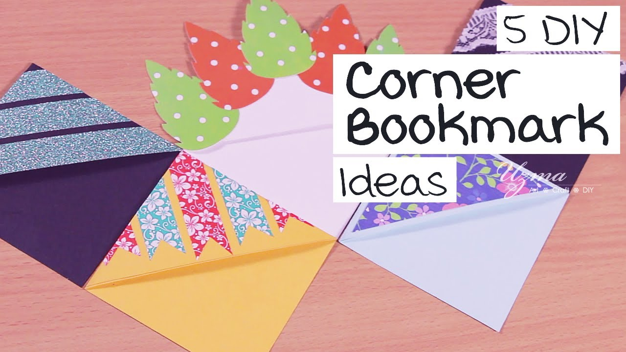 5 DIY Corner Bookmark Ideas | Easy Bookmark Designs | Paper Craft