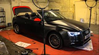 Audi A5 S Line Brushed Black Metallic wrap from Gold Mirror Carbon GSTARWRAPS