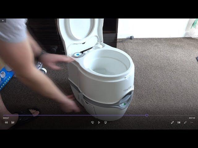 Thetford Porta Potti Excellence Manual Flush Portable Toilet Motorhome 92301