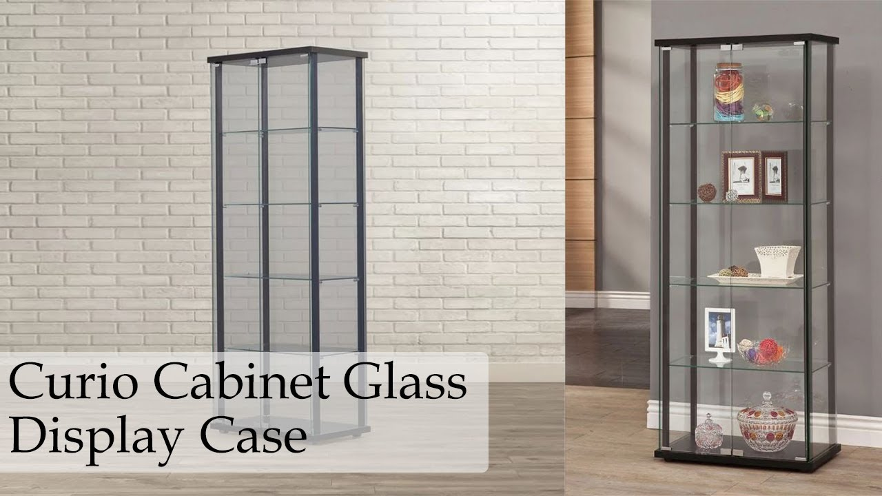 mounted display wall silver cabinet glass