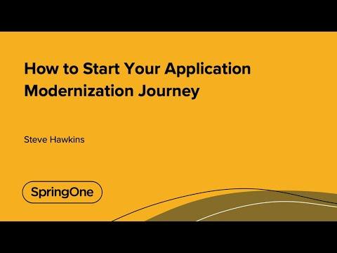 How to Start Your Application Modernization Journey