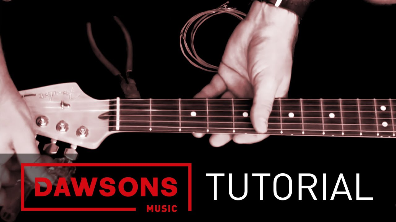 How To Restring A Guitar Beginner Guitar Lessons Youtube