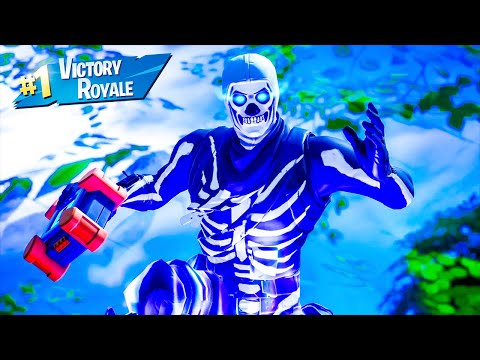 Skull Trooper Skin Solo Win Full Gameplay Fortnite Chapter 2 Season 2 No Commentary PS4 Console