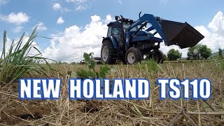 Best New Holland-Ford Tractor TS110 video-pulling John Deere Disc
