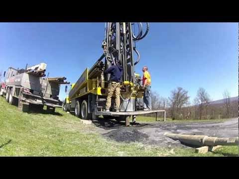Atlas Copco T3 Rig, Rack Out (Tompkins Well Drilling)