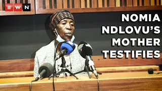 Maria Mushwana, the mother of Nomia Rosemary Ndlovu, a former police officer accused of having her relatives and partner killed for insurance policy pay-outs, testified at the Palm Ridge Magistrates Court on 16 September 2021.