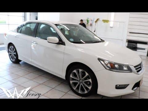 2017 Honda Accord White >> WHITE 2015 HONDA ACCORD SPORT TINTED BY WINNING WINDOW TINTS! - YouTube