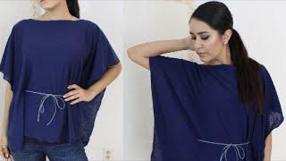 DIY: How to Kaftan /Poncho/ Easy No Sew Shirt