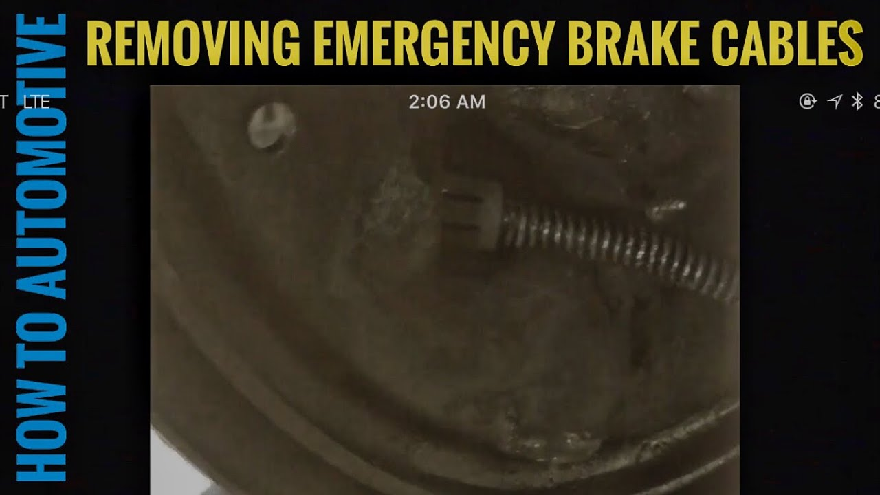 How To Remove Emergency Brake Cables From Backing Plate On Drum 65 Ford Galaxie Wiring Diagram Howtoautomotive Autorepair