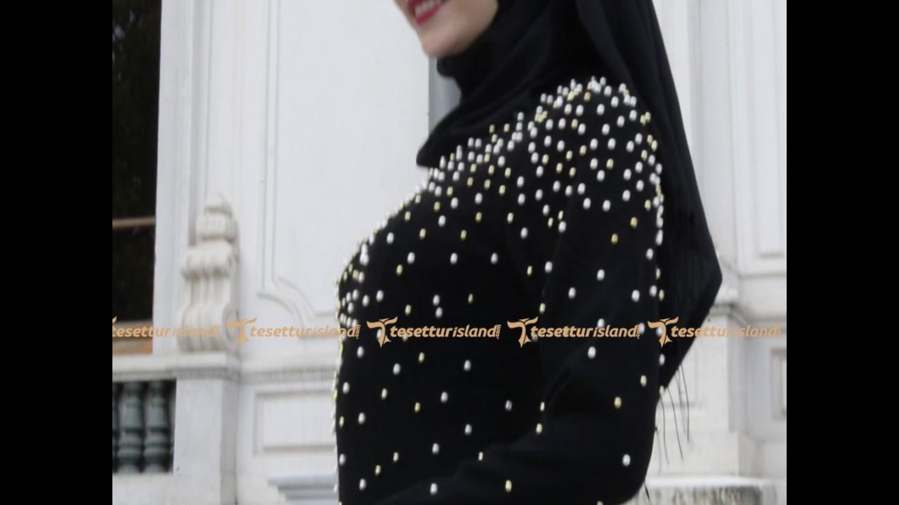 b3889fcb5d07d Tesetturisland.com | Puane - Boncuk Detaylı Tesettürlü Abiye Elbise ...