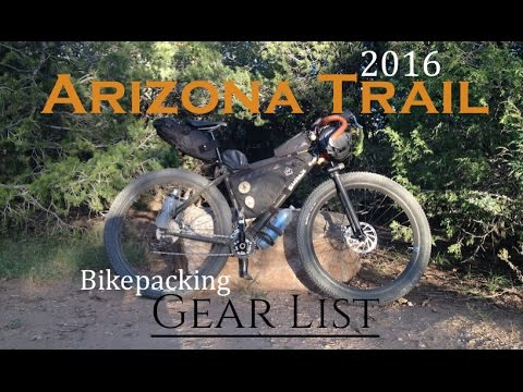 2016 AZT Bikepacking Gear List