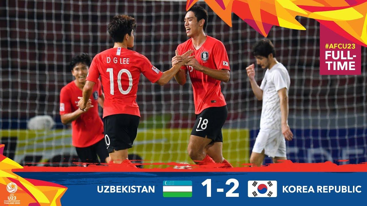 #AFCU23 M21 - UZBEKISTAN 1 - 2 KOREA REPUBLIC : HIGHLIGHTS