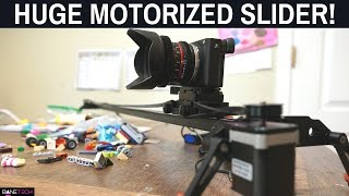 Motorized Slider for DLSR Mirrorless Cameras! This One is HUGE! Battery Powered Slider.