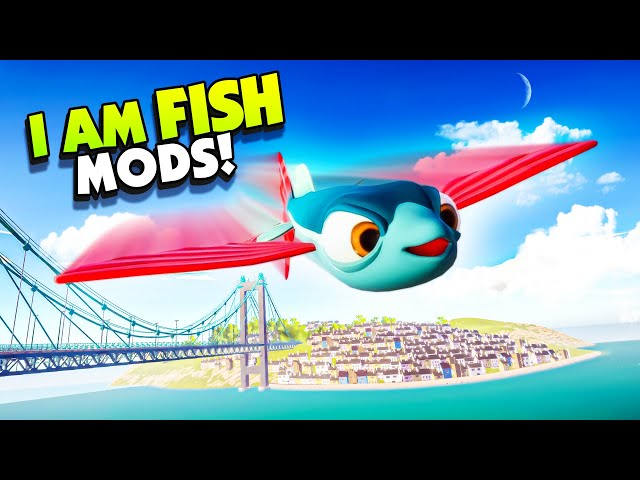 FLYING FISH Can Fly Over The WHOLE MAP With Mods! - New I Am Fish Gameplay