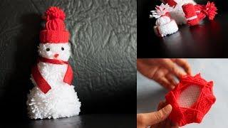 YARN CHRISTMAS TREE ORNAMENTS | 3 COOL WOOLEN CHRISTMAS TREE DECORATION IDEAS |
