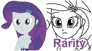 How to draw Rarity Friendship Games MLP Equestria Girls step by step
