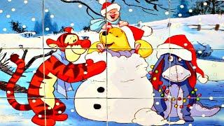 Винни Пух и ДРУЗЬЯ - собираем кубики пазлы для малышей с героями мультика  Winnie the Pooh Disney