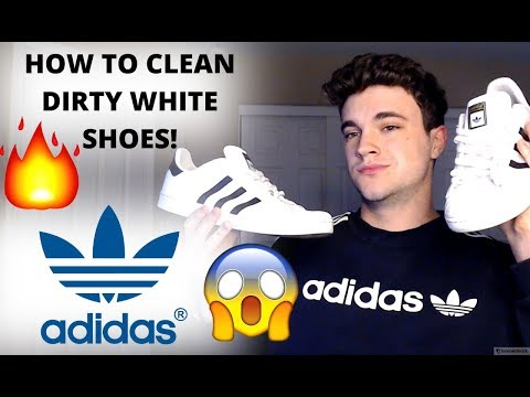 HOW TO CLEAN ADIDAS SUPERSTARS! EASY & FREE! (100%) WORKS!