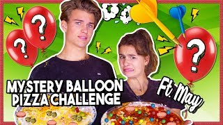 MYSTERY BALLOON PIZZA CHALLENGE met LEVY VS MAY HOLLERMANN + GIVEAWAY