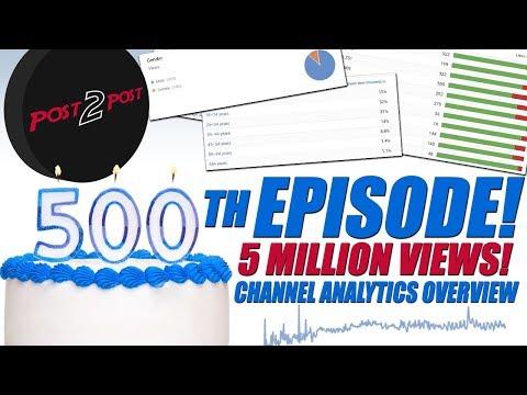 Episode 500! 5 Million Views! Channel Analytics Overview!