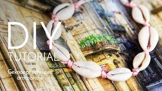 Sieraden maken met Kralenwinkel Online - Geknoopt schelpen armbandje