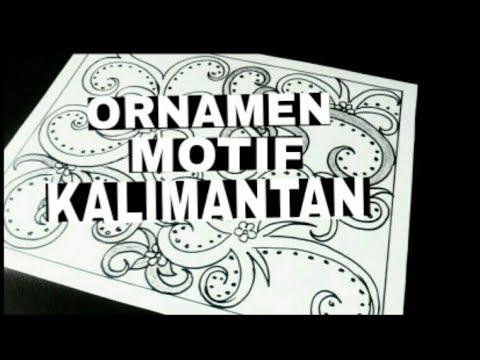 Menggambar Ornamen Motif Kalimantan Langsung Dengan Spidol Youtube