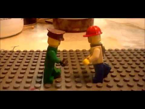 Lego Gun Fight/Fist Fight with blood and gore - A Stop-Motion short film