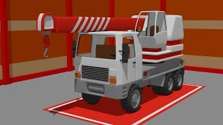 Street Vehicles - Auto Crane, #Trucks, Excavators | Video for kids | Pojazdy Budowlane Bajki