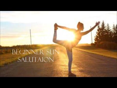 beginner sun salutation  youtube