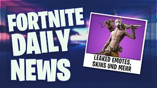 LEAKED SKINS, EMOTES UND FORTNITE X IT - Fortnite Daily News (27 August 2019)