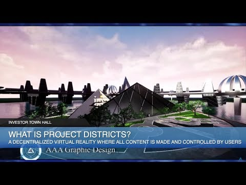 Project Districts ICO Token Sale - For A Decentralized Virtual Reality City