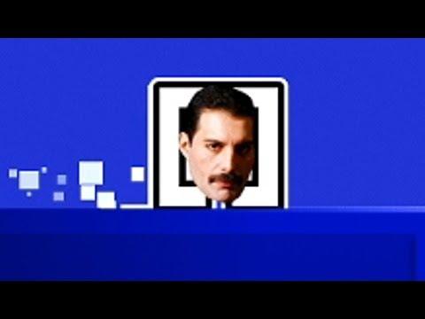 Freddie Mercury Plays Geometry Dash