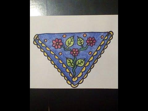 Как рисовать платок