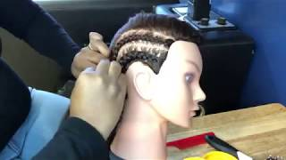 #67. *Live* Feed-in Braid Tutorial & How to Cornrow