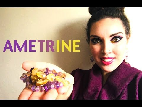 AMETRINE! One Gem With Amethyst & Citrine Together, For Spiritual Awakening And Creative Success