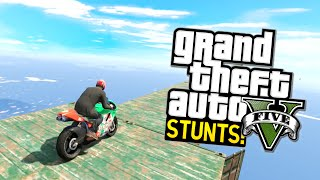 GTA 5 Stunts: Worlds Best Stunt? (Funny Moments Highlight!)