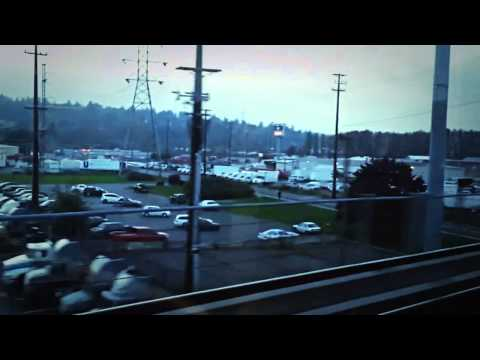 Central Link Light Rail: Riding on the Seattle Light Rail into Downtown Seattle