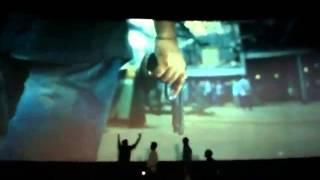 yennai arindhaal teaser at kasi theatre thala fans celebration during linga fdfs