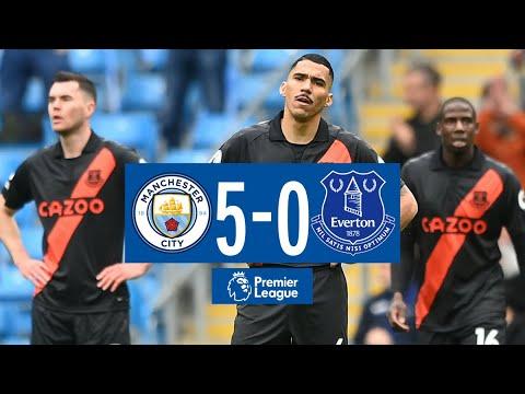 Man City 5-0 Everton |  Lo más destacado de la Premier League