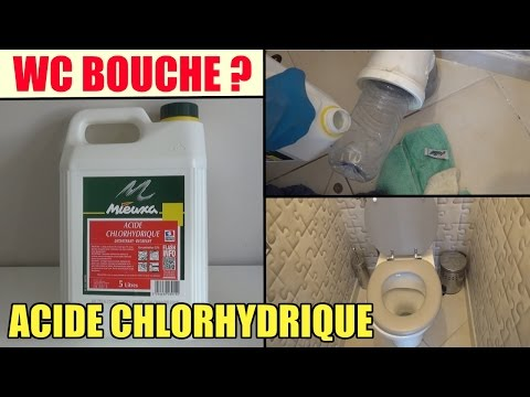toilette wc bouch test de l 39 acide chlorhydrique pour. Black Bedroom Furniture Sets. Home Design Ideas
