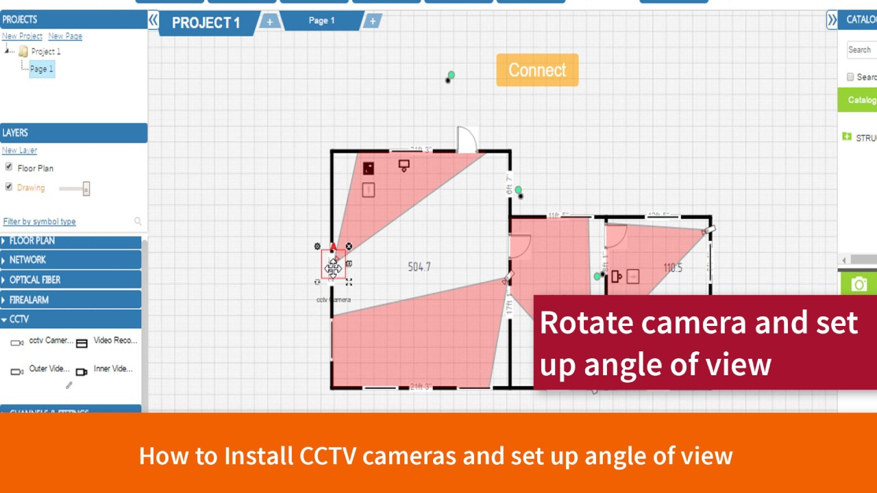 Cad5d how to do cctv design in under 10 minutes cloud for Cctv layout software