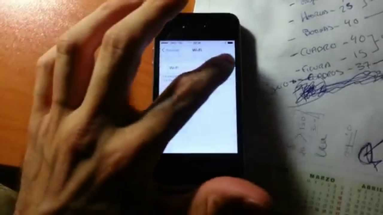 Arreglar Wifi Iphone S