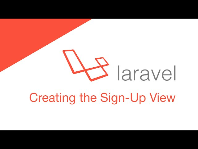 Laravel 5.2 PHP Build  a social network - Signup & Login Screen