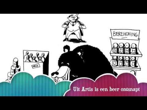 Uit Artis is een beer ontsnapt