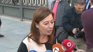 Armengol celebra la investidura de Sánchez