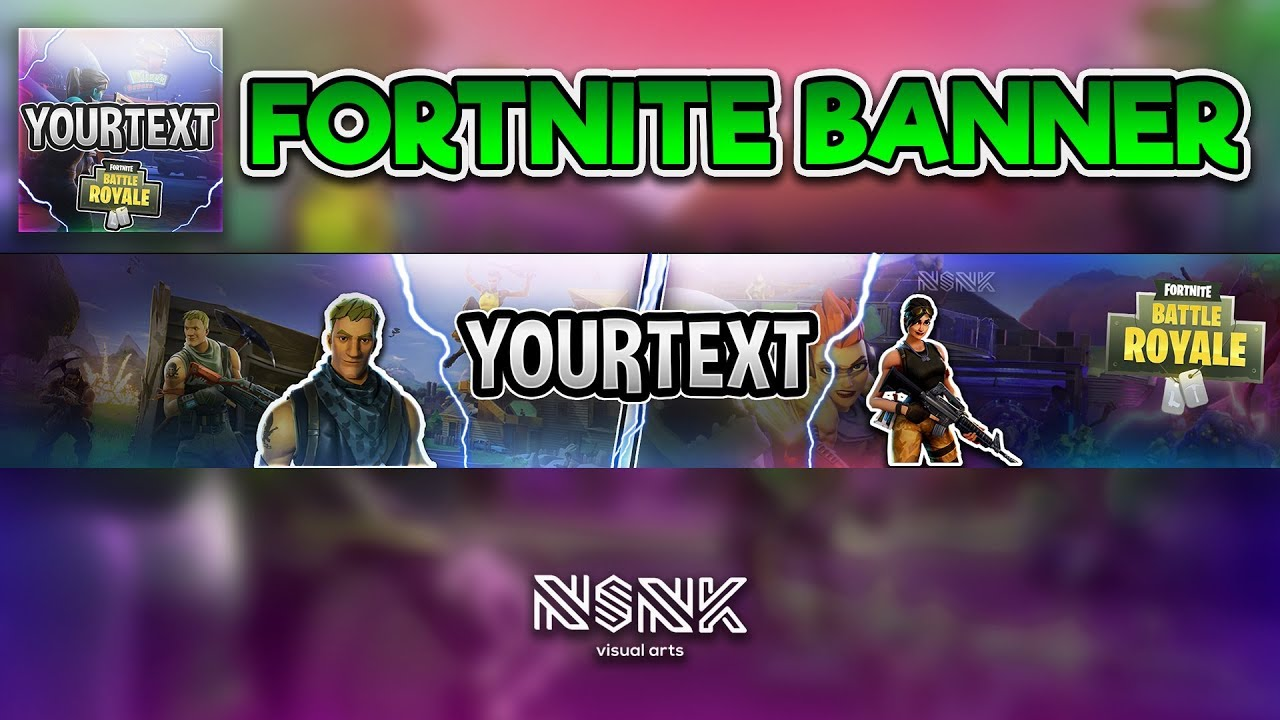 Free Speed Art Fortnite Banner And Icon For Youtbe Psd Personalize