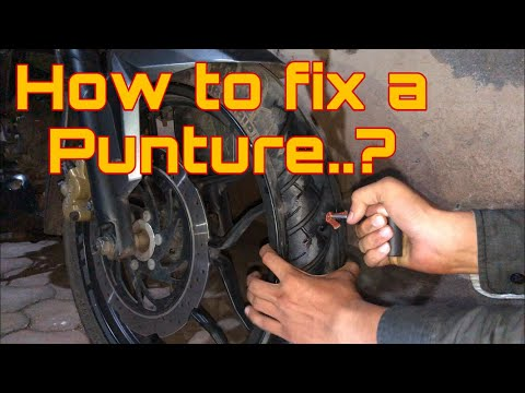 How to fix a punture on a tubeless tyre | DIY Video | How to repair a punture