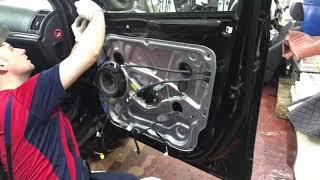 Hyundai ix55 шумоизоляция передних и задних дверей в три слоя материалами Comfortmat