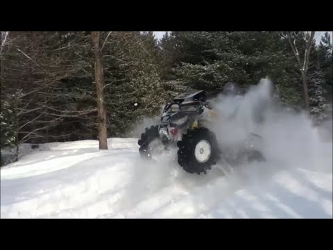 Can-am Renegade 1000 in deep snow