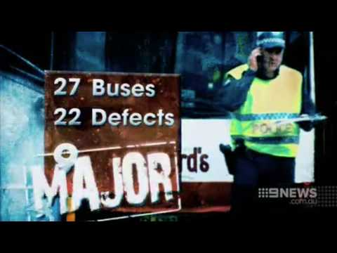 CH9 Syd Police Swooped On A Bus Depot